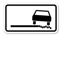 Zusatzschild Schlechter Fahrbahnrand – Verkehrsschild VZ 1052-38