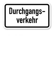Zusatzschild Durchgangsverkehr – Verkehrsschild VZ 1053-36