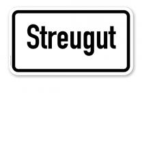 Zusatzschild Streugut – Verkehrsschild VZ 1060-30