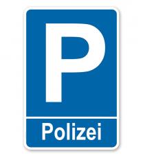 Parkplatzschild Polizei – P