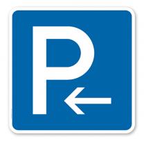 Parkplatzschild Parken Anfang - Verkehrszeichen VZ 314-10 - quadratisch - P