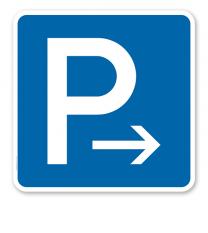 Parkplatzschild Parken Ende - Verkehrszeichen VZ 314-20 - quadratisch - P