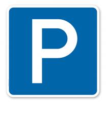 Parkplatzschild Parken - Verkehrszeichen VZ 314 - quadratisch - P