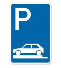 Parkplatzschild Parken ganz auf Gehwegen - VZ 315-80