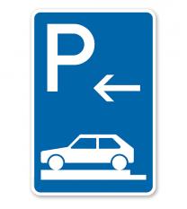 Parkplatzschild Parken ganz auf Gehwegen - Ende - VZ 315-82