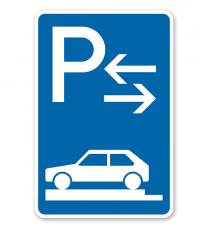 Parkplatzschild Parken ganz auf Gehwegen - Mitte - VZ 315-83