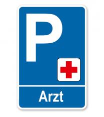 Parkplatzschild - Arzt – P