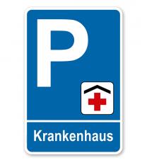 Parkplatzschild - Krankenhaus – P