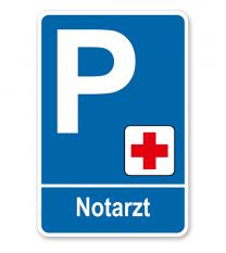 Parkplatzschild - Notarzt – P