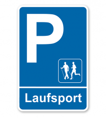 Parkplatzschild - Laufsport – P