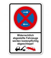 Absolutes Halteverbot - Widerrechtlich abgestellte Fahrzeuge werden kostenpflichtig abgeschleppt 2