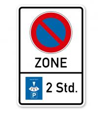 Eingeschränktes Halteverbot - Zone - mit Parkscheibe 2 Std