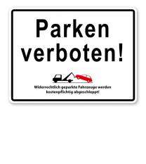 Halteverbotsschild - Parken verboten