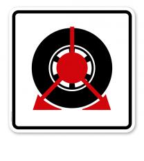 Parkplatzschild Parkkralle - quadratisch - P