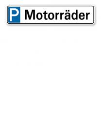 Parkplatzreservierer / Parkplatzschild - Motorräder – P