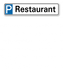 Parkplatzreservierer / Parkplatzschild - Restaurant – P