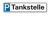 Parkplatzreservierer / Parkplatzschild - Tankstelle – P