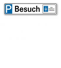 Parkplatzreservierer / Parkplatzschild - Besuch - mit Parkscheibe – P