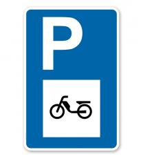 Parkplatzschild - Mofa - mit Mofasymbol – P