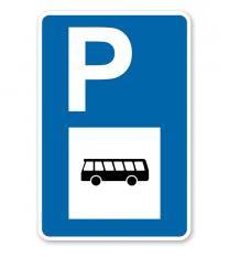 Parkplatzschild - Busse - mit Bussymbol – P