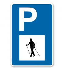 Parkplatzschild - Nordic Walking - mit Symbol – P