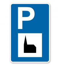 Parkplatzschild - Autobahnkapelle / Kirche - mit Zeichen VZ 365-59 – P