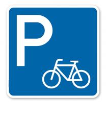 Parkplatzschild Fahrrad - quadratisch - P