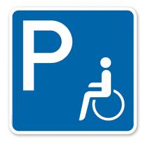 Parkplatzschild Behinderte - quadratisch - P