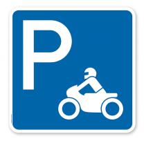 Parkplatzschild Motorrad - quadratisch - P