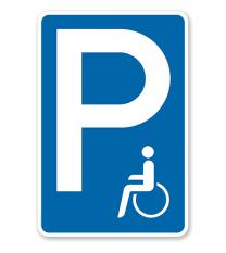 Parkplatzschild für Behinderte – P
