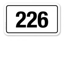 Parkplatzschild individuelle Platznummerierung - dreistellig – P