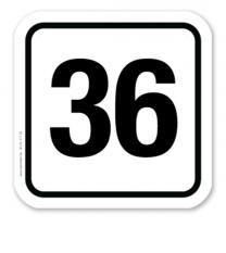 Parkplatzschild individuelle Platznummerierung – P