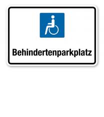 Hinweisschild Behindertenparkplatz – P