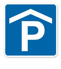 Parkplatzschild Parkhaus - Verkehrszeichen VZ 314-50 - quadratisch - P