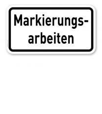 Zusatzschild Markierungsarbeiten – Verkehrsschild VZ 2114