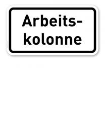Zusatzschild Arbeitskolonne – Verkehrsschild VZ 2123