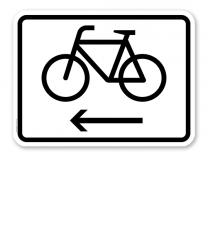 Zusatzschild Fahrräder linksweisend – Verkehrsschild VZ 2201