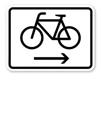 Zusatzschild Fahrräder rechtsweisend – Verkehrsschild VZ 2202
