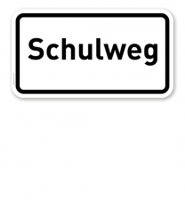 Zusatzschild Schulweg – Verkehrsschild VZ 2303