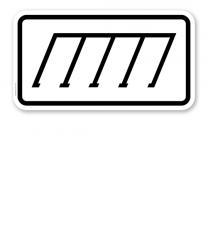 Zusatzschild Parkanordnung schräg rechts – Verkehrsschild VZ 2402