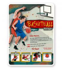 Spielplatzschild Basketball 4P - PB