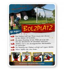 Spielplatzschild Bolzplatz 4P - PB