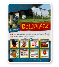 Spielplatzschild Bolzplatz 8P - PB