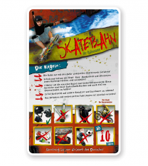 Schild Skatebahn 8P - PB - längere Schilderversion
