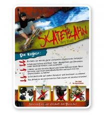 Schild Skatebahn 4P - PB