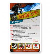 Schild Bikeparcours 4P - PB - längere Schilderversion