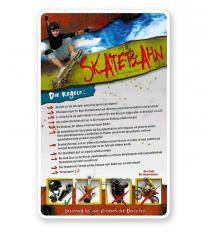 Schild Skatebahn 4P - PB - längere Schilderversion