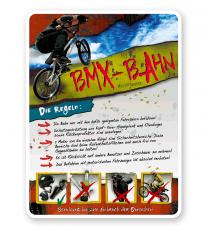 Schild BMX-Bahn 4P - PB