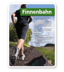 Schild Finnenbahn - mit Regeln - PB