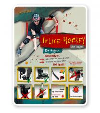 Spielplatzschild Inline-Hockey 8P - PB